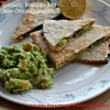 Spinach, Broccoli and Red Onions Quesadillas