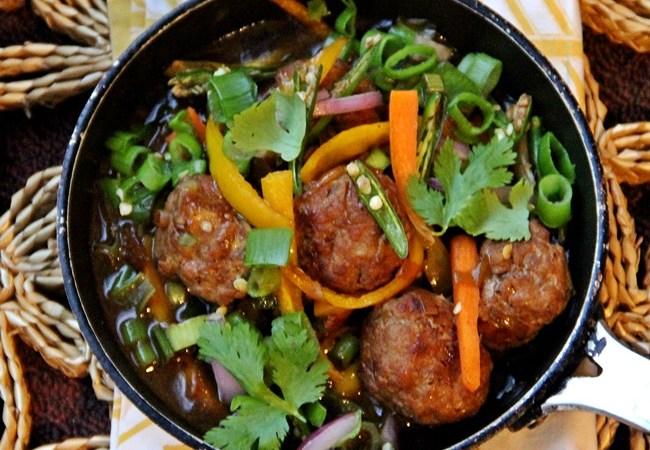 Indo Chinese Chili Chicken Meatballs