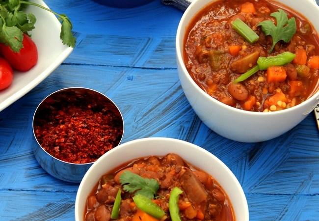 Triple Herb Vegetarian Chili