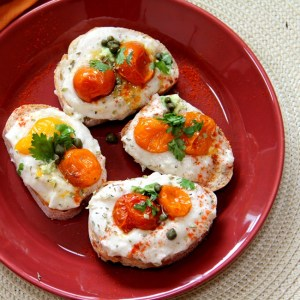 White Bean Puree with Oven Roasted Tomatoes – An pretty easy solution