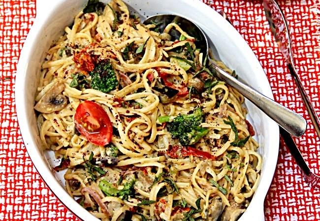 Vegan Linguini with loads of veggies