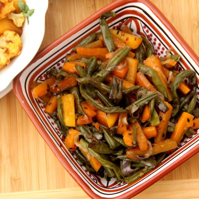 Stir Fried Beans and Carrots