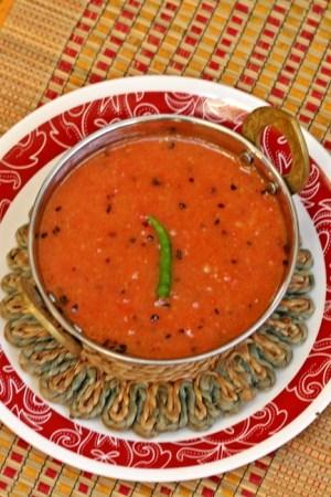 Bengali Tomato Chutney with Ginger