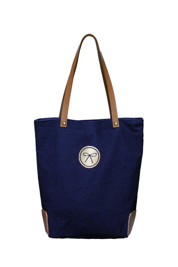 Equestrian Crest Bag Navy back