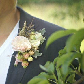 Strawberries Buttonhole