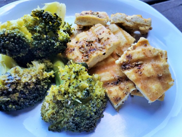 Lemon Garlic Fennel and Sage Grilled Tofu