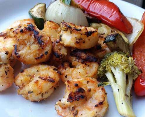 Grilled Greek Shrimp