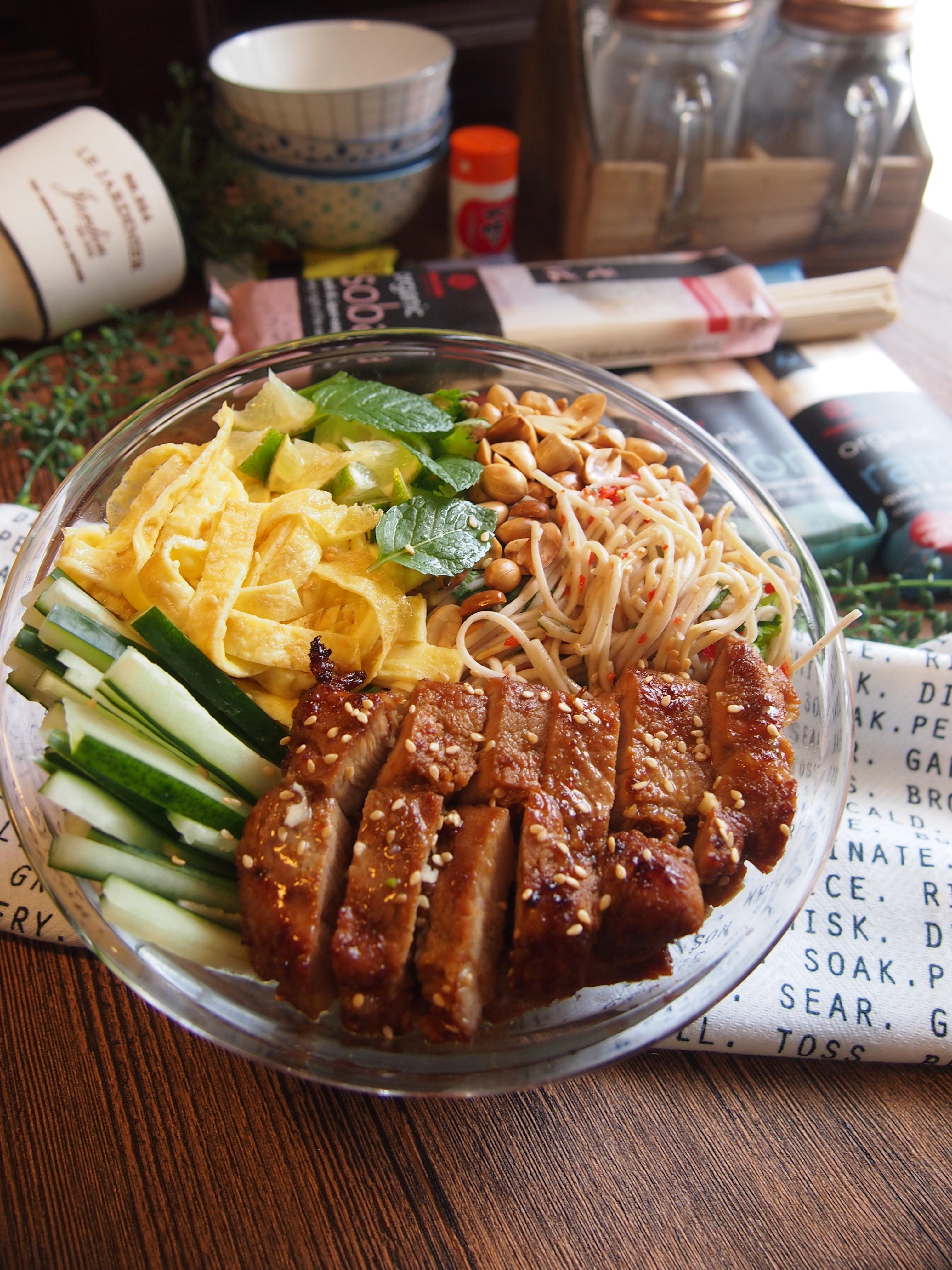 Collaboration: Jap-Viet Noodle Salad with Hakubaku Organic Soba