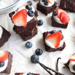 Mini Brownie Bites with Vanilla Bean Greek Yogurt and Berries (gf)