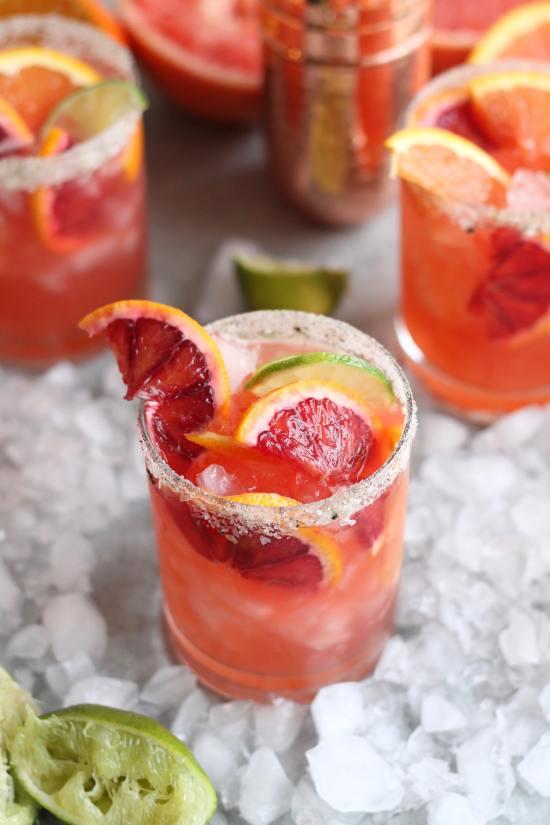 Winter Citrus Margaritas with Vanilla Bean Salty Sugar