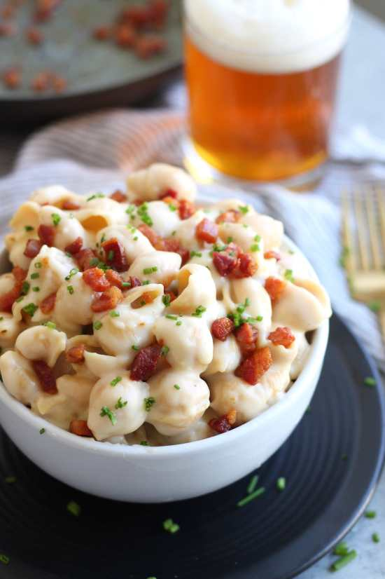Irish Cheddar Mac and Cheese with Crispy Pancetta