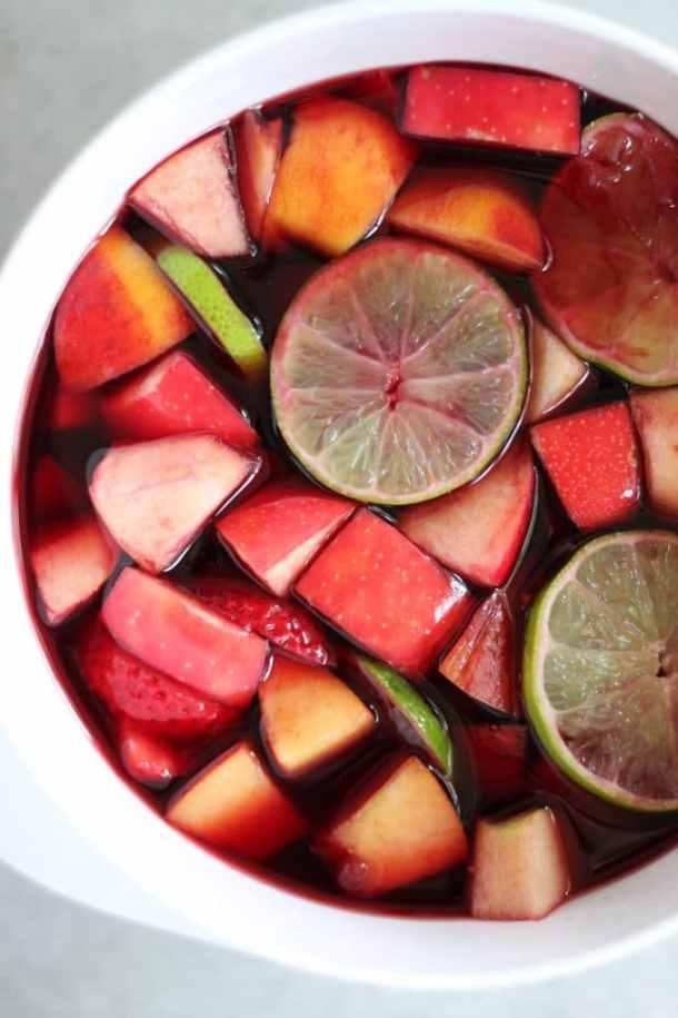 Sangria Soaked Fruit Skewers