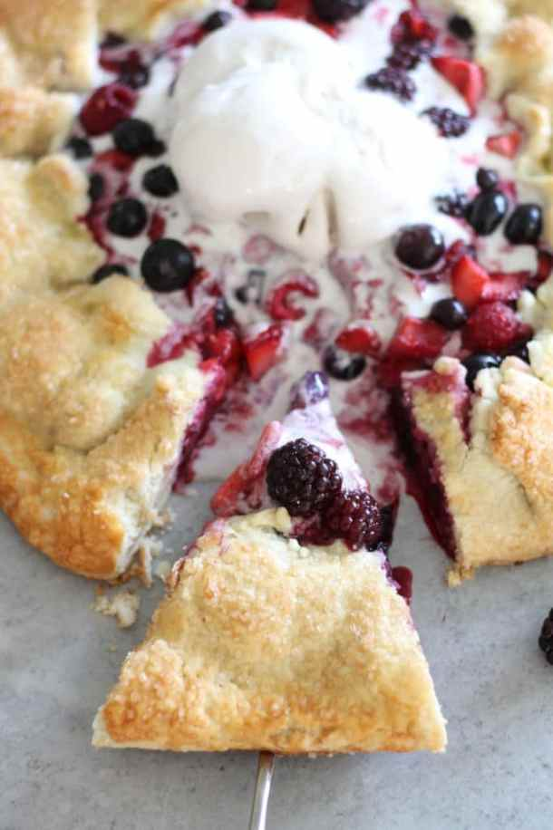 Vanilla Bean Berry Galette