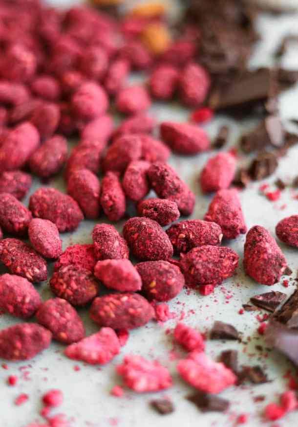 Raspberry Dark Chocolate Sea Salt Almonds