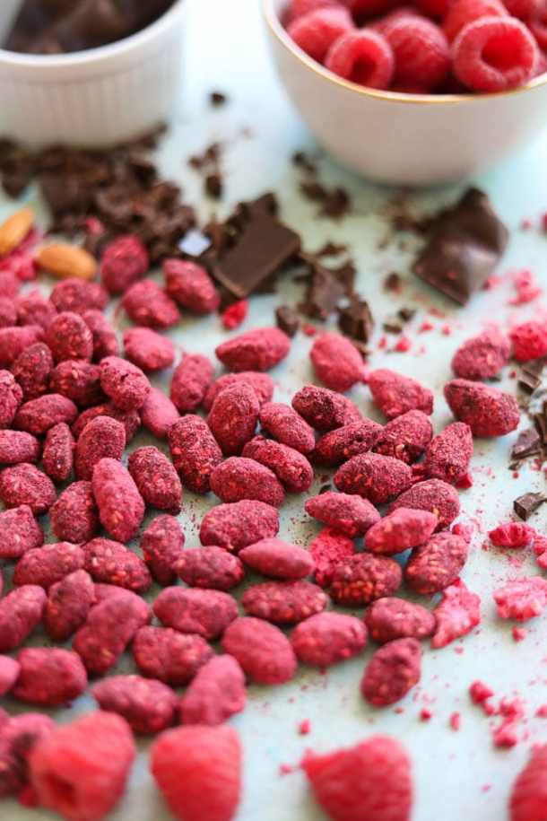 Raspberry Dark Chocolate Sea Salt Almonds