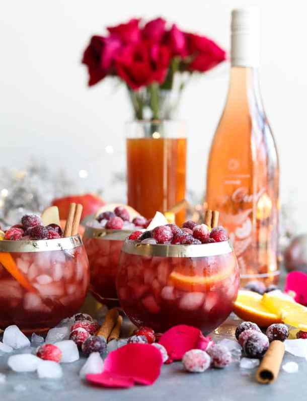 Winter Rosé Sangria