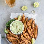 Mexican Sweet Potato Fries with Avocado Aioli