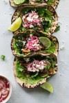 Marinated Mushroom Kale Tacos with Cilantro Avocado Sauce