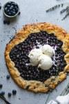 Lavender Blueberry Vanilla Bean Galette