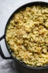 Hidden Zucchini Mac and Cheese with Garlic Brown Butter Breadcrumbs