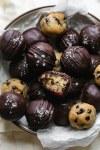 Salted Dark Chocolate Cookie Dough Bites