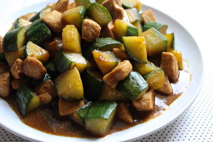 Chicken Breast with Cucumber Stir Fry (9 of 9)
