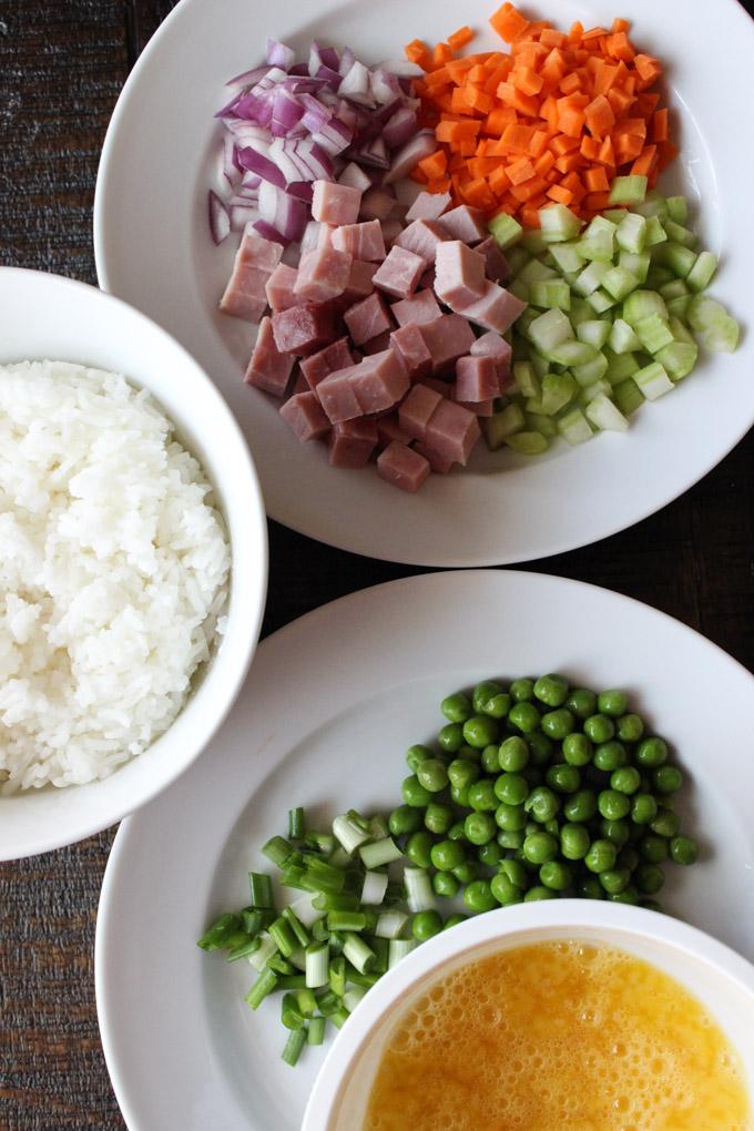 Ham Fried Rice-Ingredients 2
