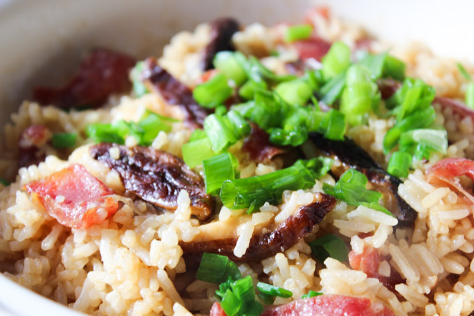 Tasty Chinese Sausage and mushroom rice (7 of 10)