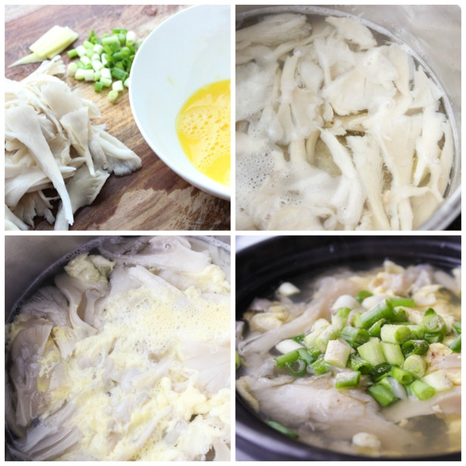 ow to make oyster mushroom soup