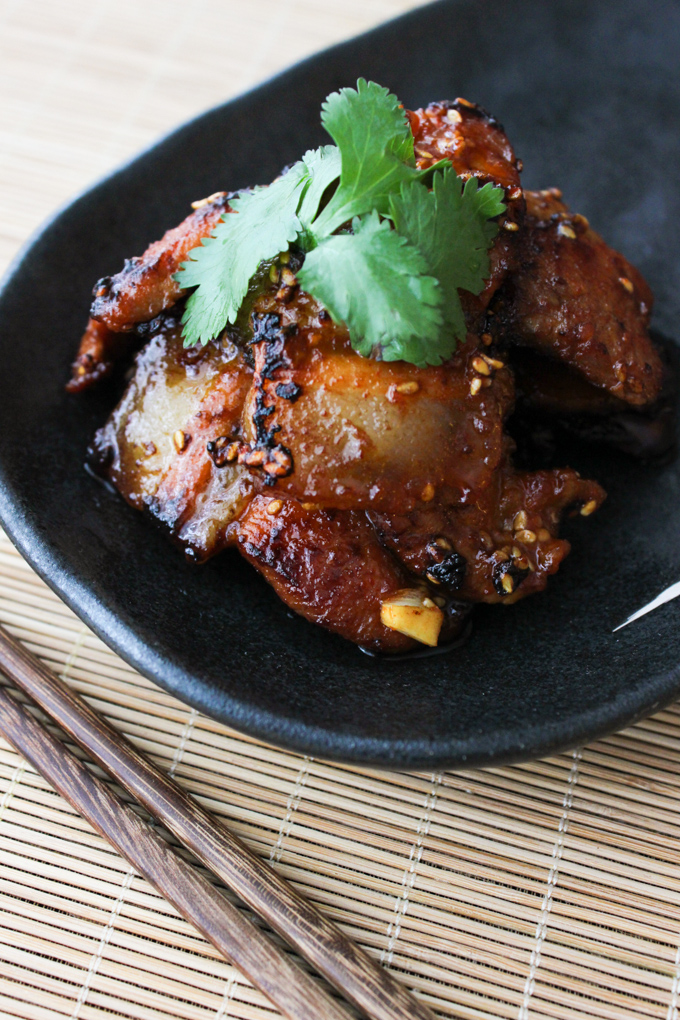 Korean Style Pan Fried Pork Belly Spice The Plate