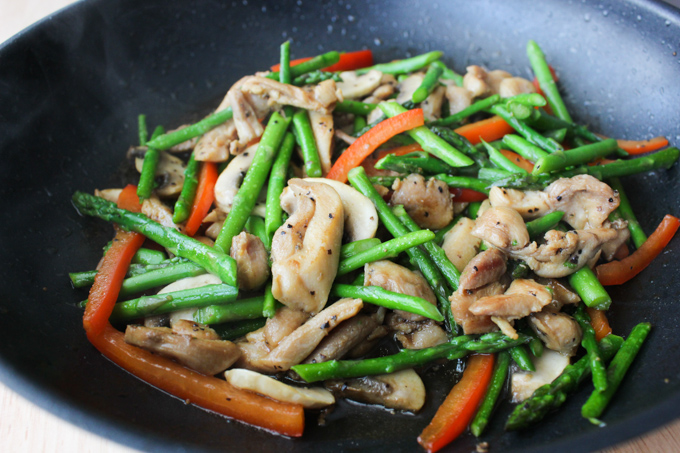 Chicken with Asparagus stir fry