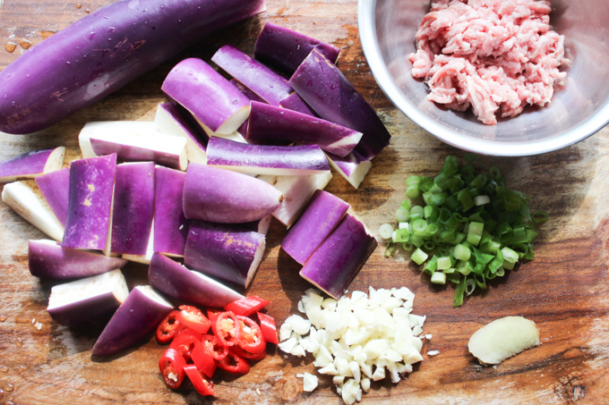Eggplant Stir-fry Ingredients