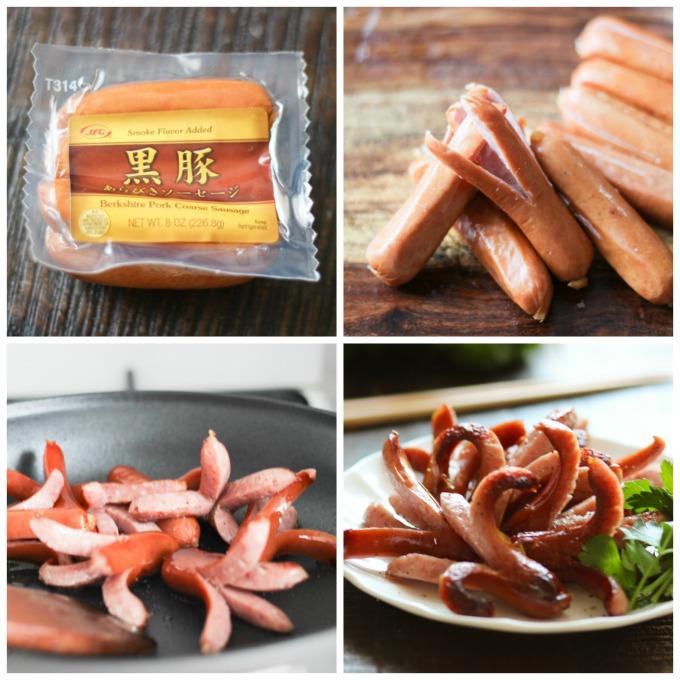 How to make Japanese Pan-fried Sausage