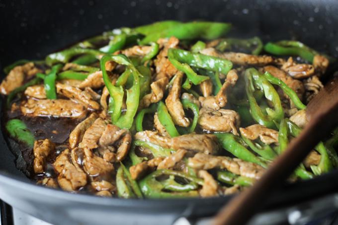 Stir Fry Green Pepper and Pork