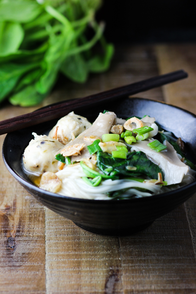 comforting noodle soup