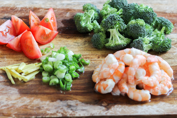 Shrimp and Broccoli Stir-fry Ingredients