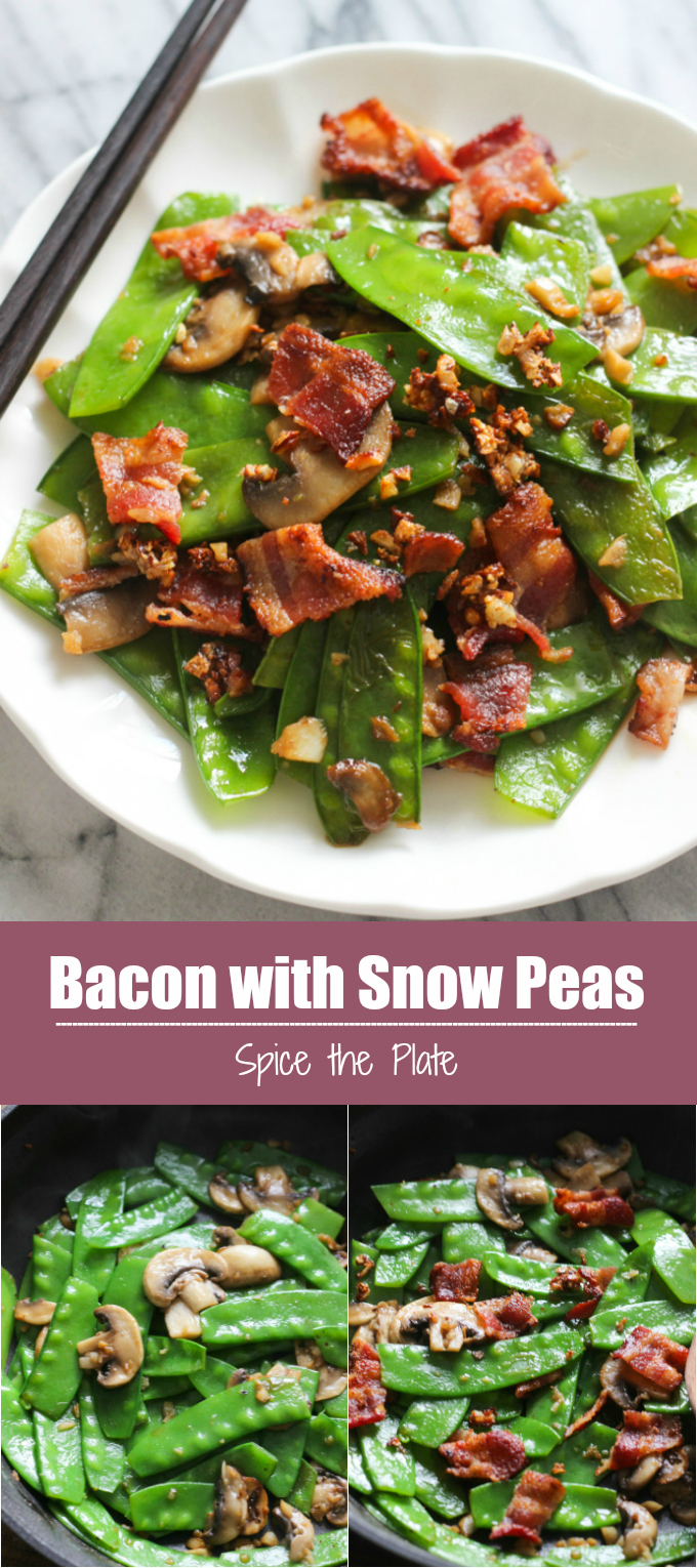 bacon with snow peas
