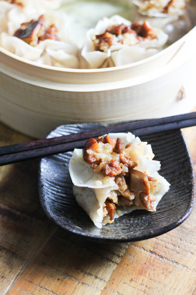 Enjoy Beef and Mushroom Shumai