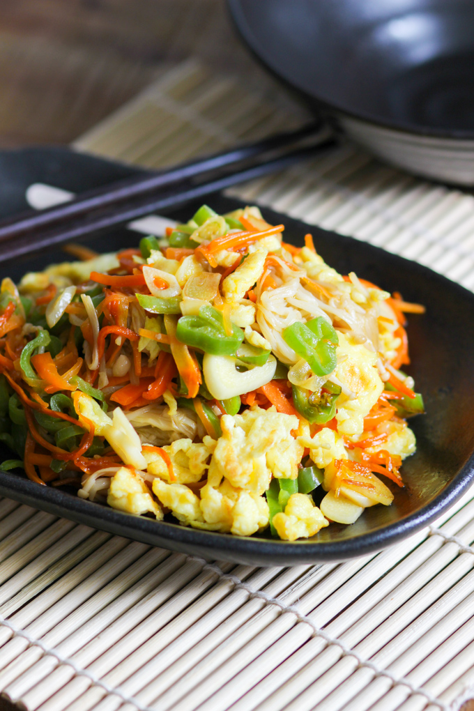 Scrambled Egg Vegetable Stir Fry Image