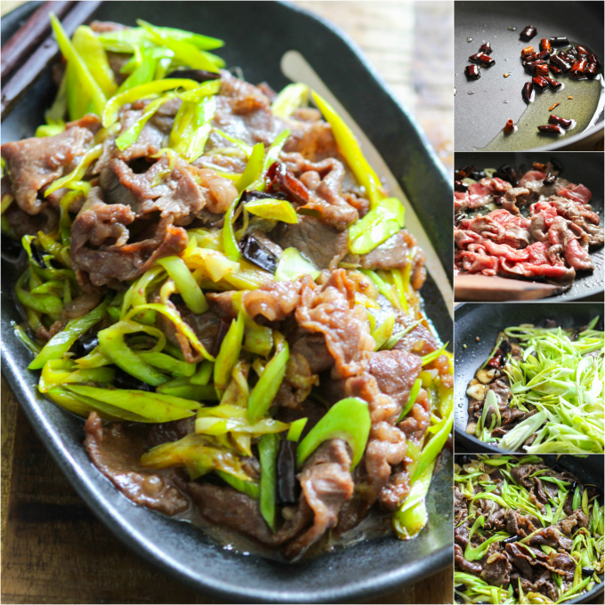 How to make stir-fried beef with leeks