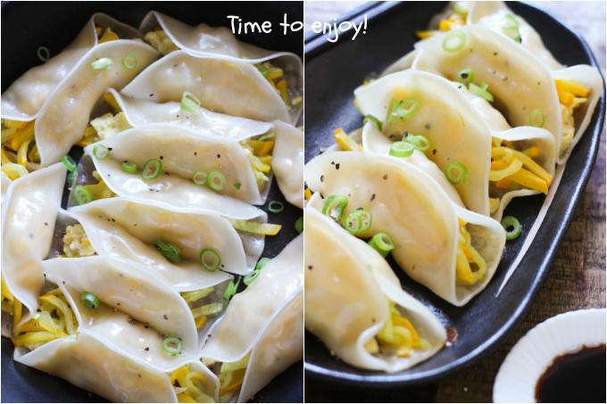 zucchini potstickers step three