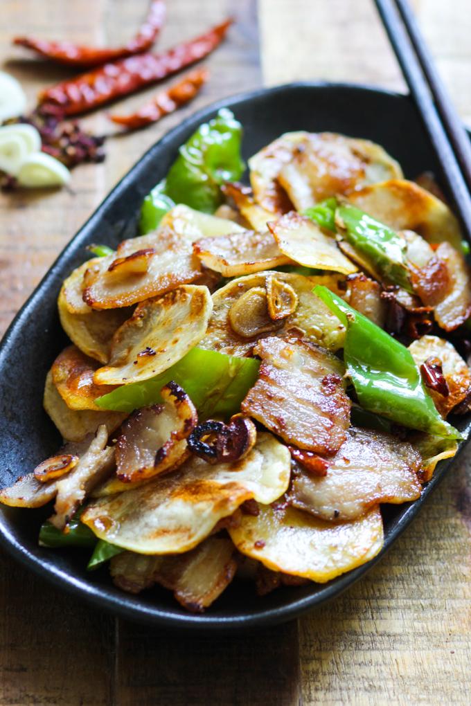 Pork Belly and Crispy Potato Stir Fry