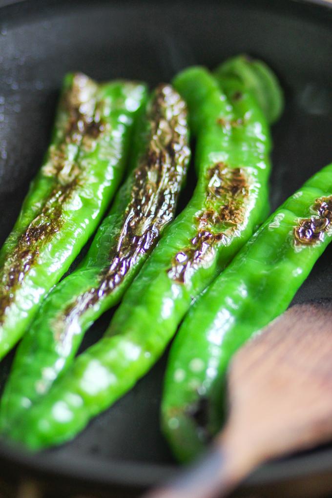 Pan-seared pepper