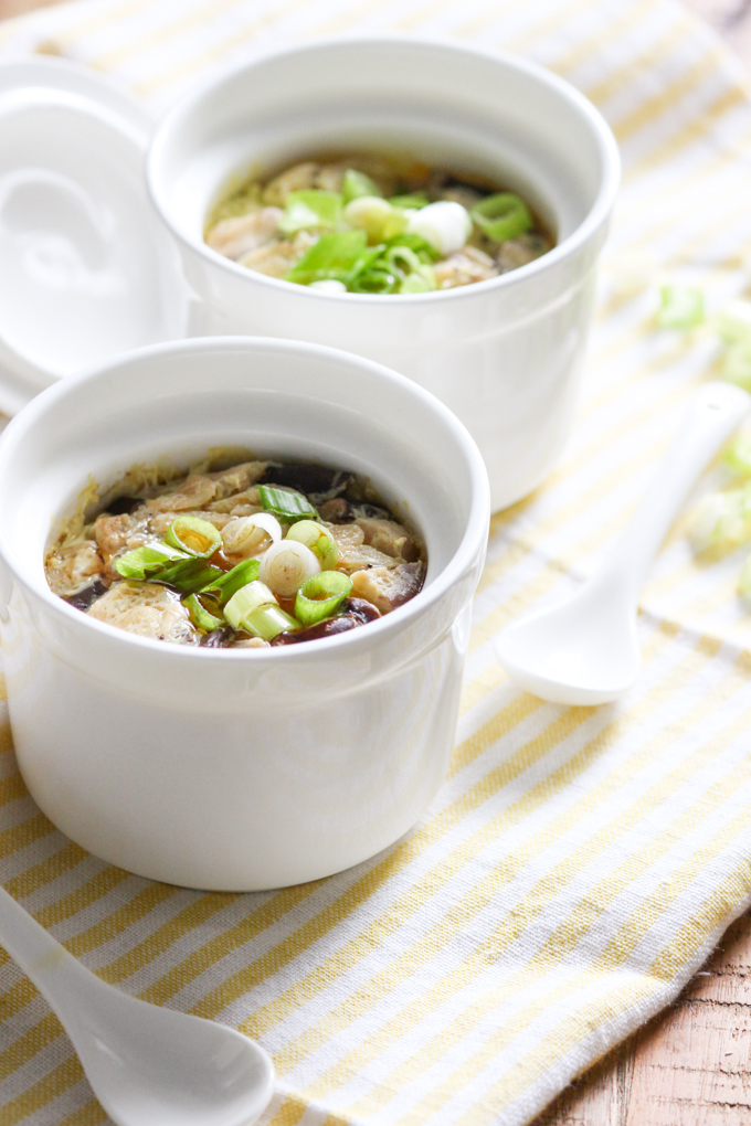 Steamed Egg with Dried Shrimp and Mushroom