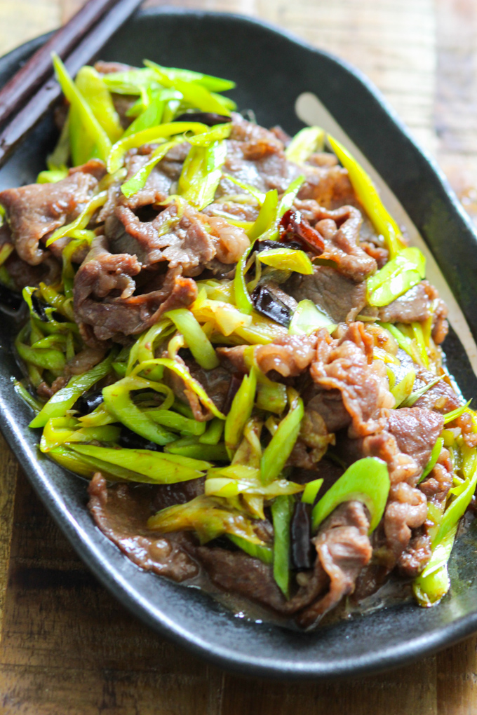 Stir-fried Beef with Leeks