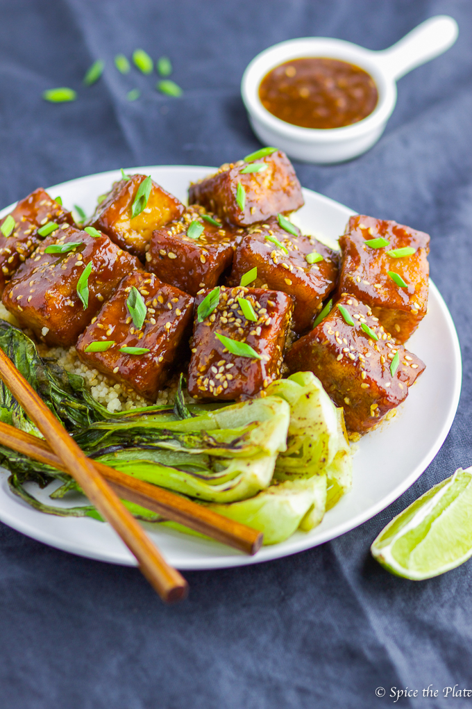 Pan-fried Tofu with Soy-Brown Sugar Glaze