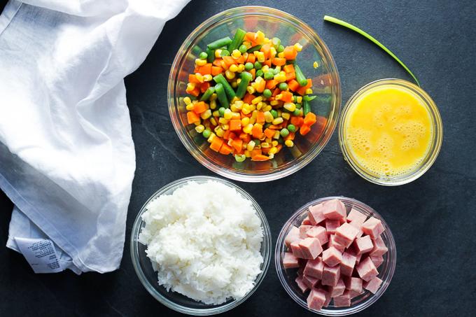 Tasty Spam Fried Rice Ingredients