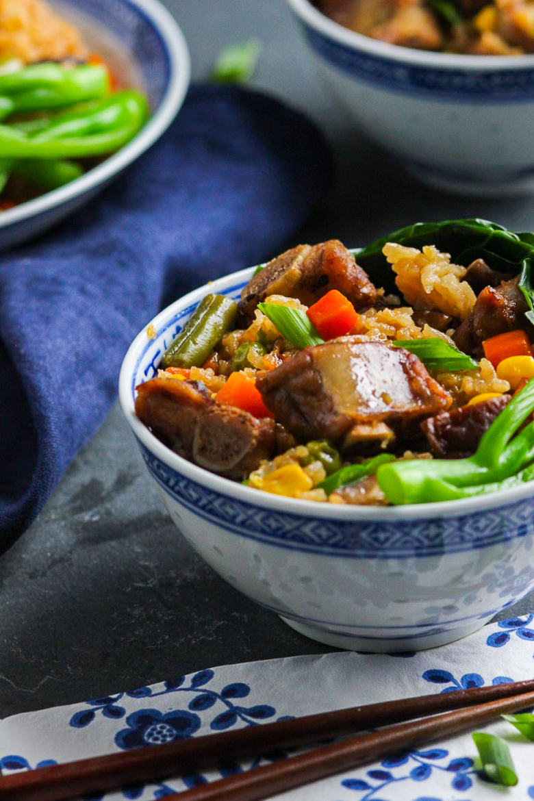 Super Easy Chinese Pork Rib Rice Bowl Image