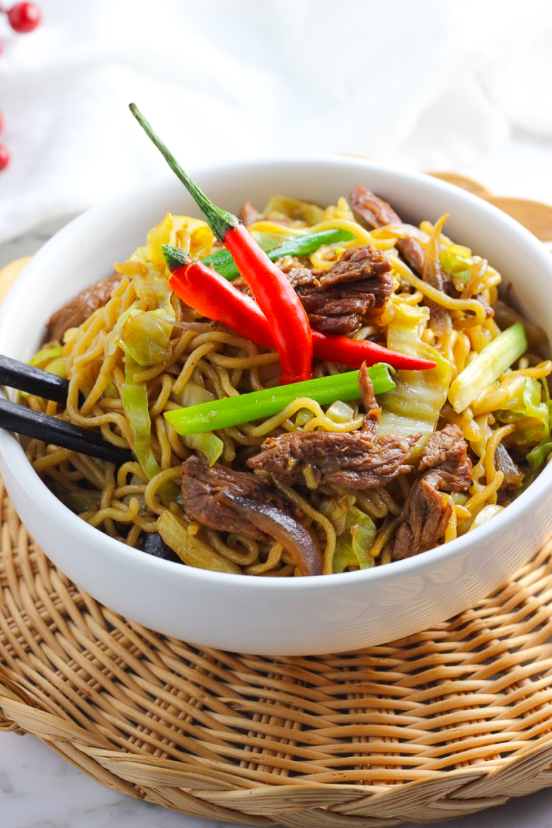 Stir-fried Ramen With Beef