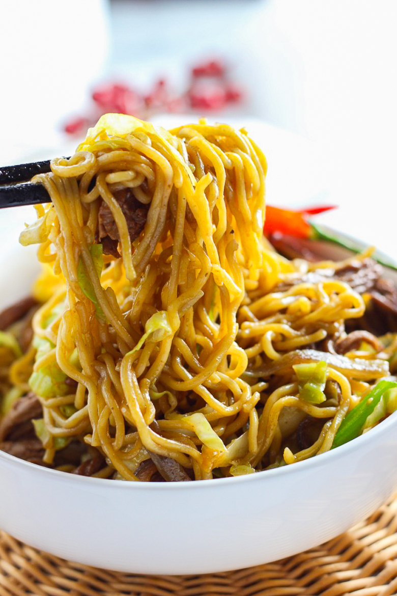 Stir-fried Ramen With Beef from Spice the Plate